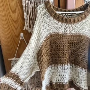 Free People oversized knit sweater